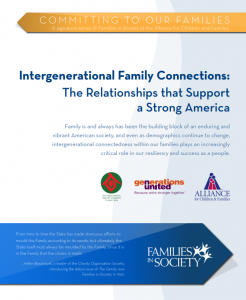 Intergenerational Family Connections: The Relationships that Support